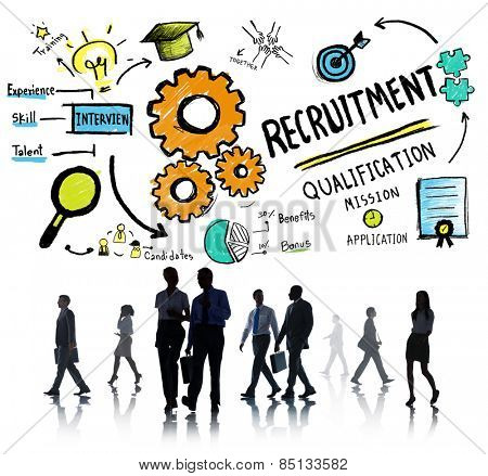 Business People Walking Recruitment Qualification Concept