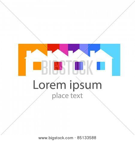 Home - template for the logo: real estate, housing, registration, etc..