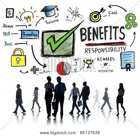 Benefits Gain Profit Earning Income Business Commuter Concept