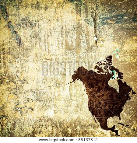 aged America map vintage artwork for your design