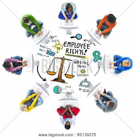 Employee Rights Employment Equality Job Computer Technology Concept