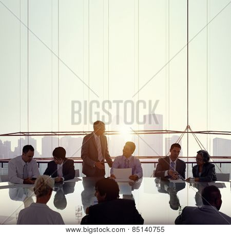 Business People Meeting Conference Working Boardroom concept