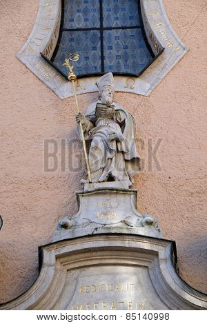 BAD ISCHL, AUSTRIA - DECEMBER 14: Saint Nicholas, parish church of St. Nicholas in Bad Ischl, Austria on December 14, 2014.