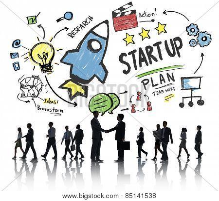 Start Up Business Launch Success Business Handshake Concept