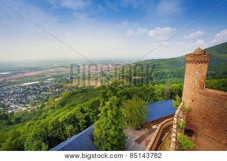 Panorama from Auerbach castle tower, Germany