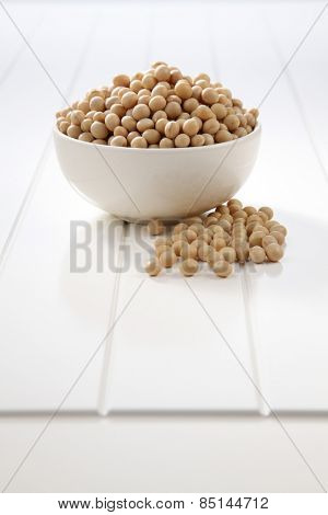 soy bean in a white bowl
