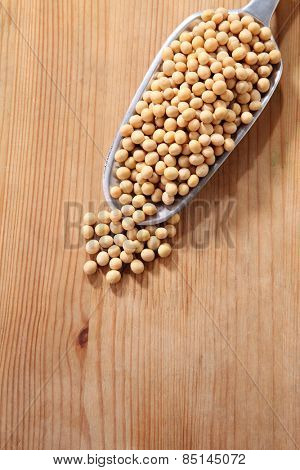 scoop of the soy beans
