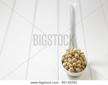 spoon full of the soy beans
