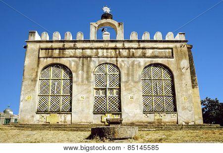 Fasil Fasil Ghebbi Castle Located In Gondar, Ethiopia.