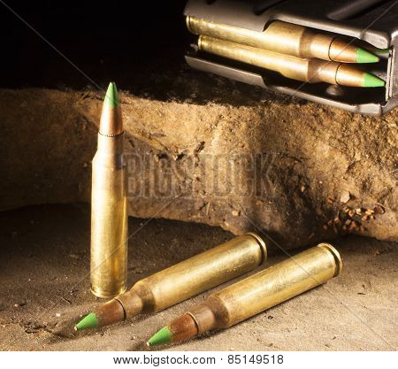 Armor Piercing Cartridges And Magazine