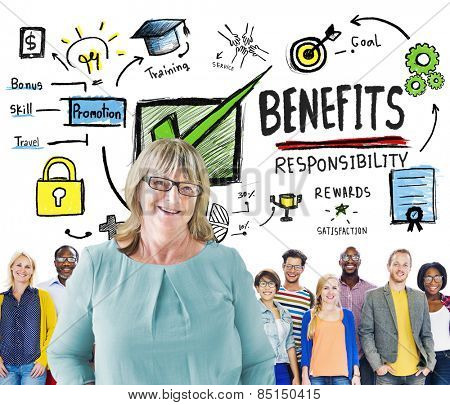 Benefits Gain Profit Income Earning People Leadership Concept