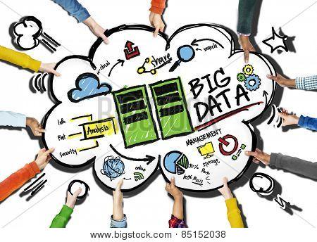 Diversity People Big Data Working Teamwork Share Concept