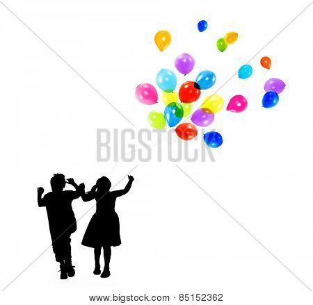 Balloon Fun Activity Aspiration Kid joy Child Concept