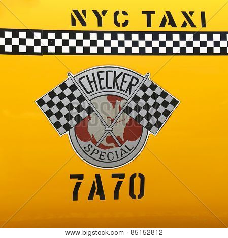Checker Taxi Cab produced by the Checker Motors Corporation In New York
