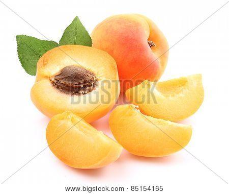 Fresh apricot with leaf