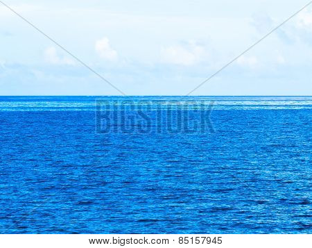 Clouds and blue ocean, Okinawa