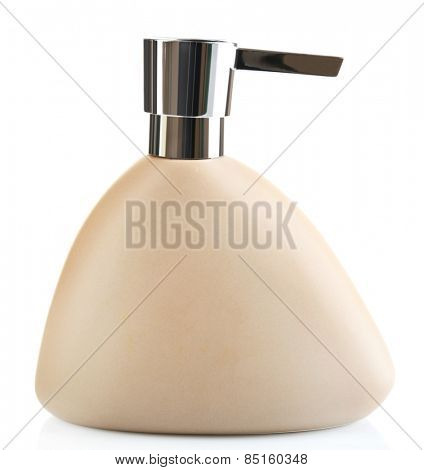 Bottle with dispenser, isolated on white