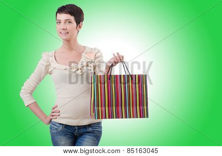 Girl after the shopping spree