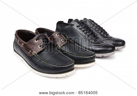 Male shoes isolated on white