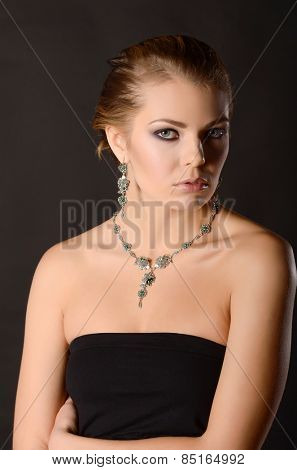 Fashion model with jewelry