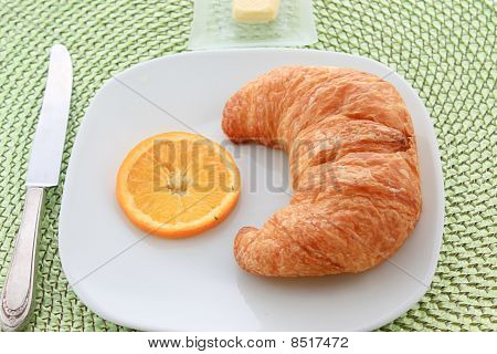 Golden Croissant For Breakfast
