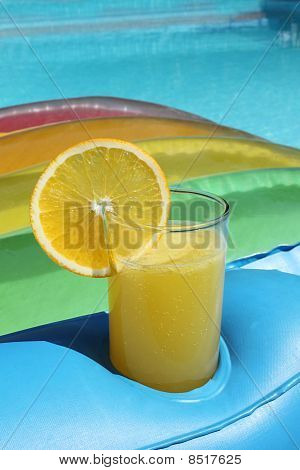 Summer Drink At Swimming Pool