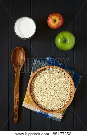 Rolled Oats, Milk and Apples