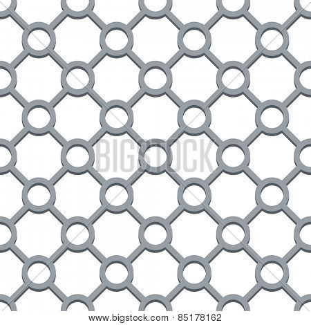 Seamless circle and diamond shapes grill vector pattern.