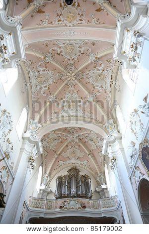 ELLWANGEN, GERMANY - MAY 07: Basilica of St. Vitus in Ellwangen, Germany on May 07, 2014.