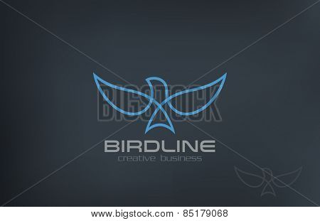 Abstract Flying Soaring Bird Logo design vector template. Business Corporate Luxury Success symbol Logotype icon.