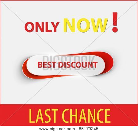 Now last chance sale design template, easy all editable