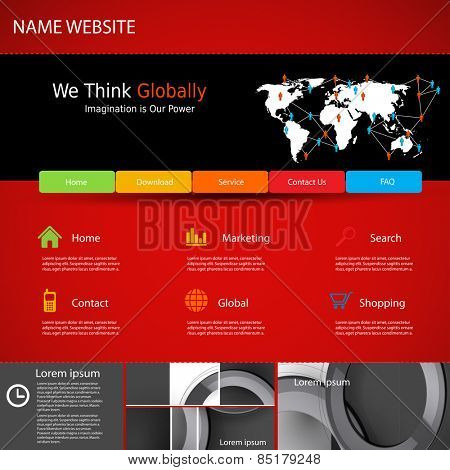 Web site design template, easy all editable