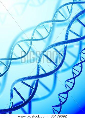 Digital 3d model of DNA structure