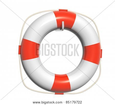 3d lifebuoy. Object isolated on white background