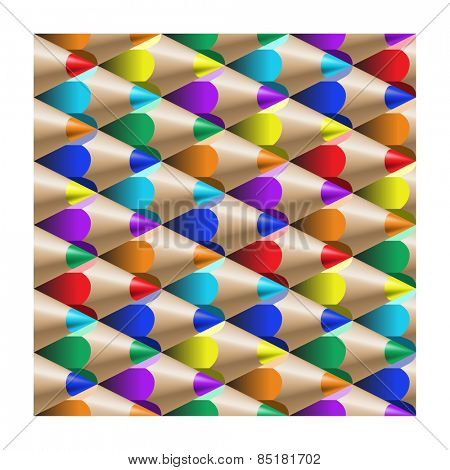 the color pencil pattern
