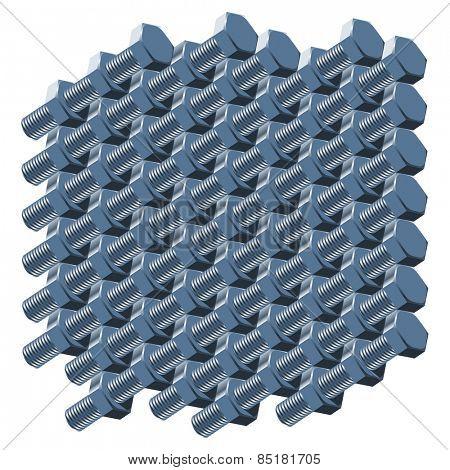 abstract steel nut pattern