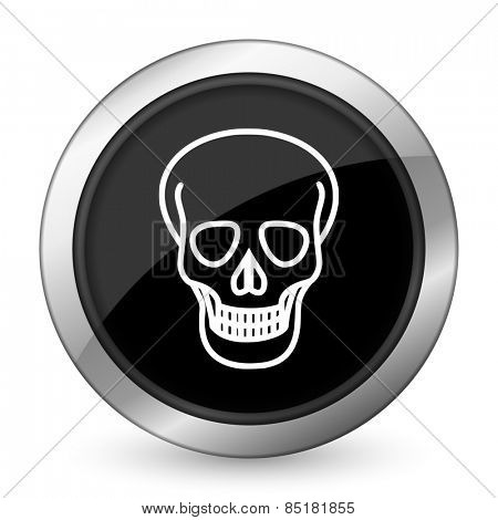 skull black icon death sign