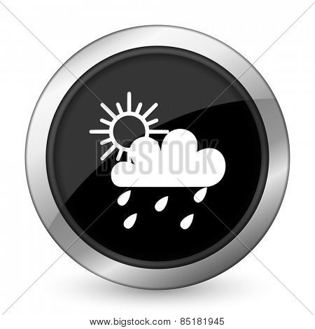 rain black icon waether forecast sign