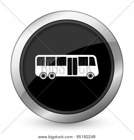 bus black icon public transport sign