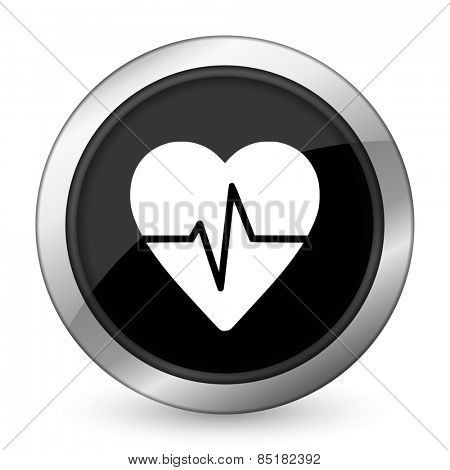 pulse black icon heart rate sign