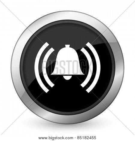 alarm black icon alert sign bell symbol