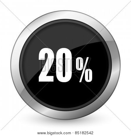 20 percent black icon sale sign