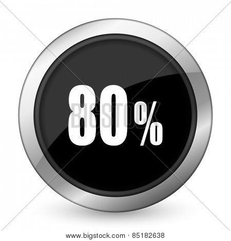 80 percent black icon sale sign