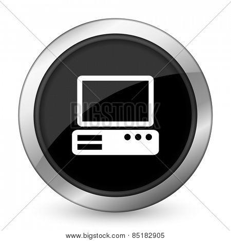 computer black icon pc sign