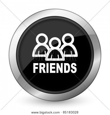 friends black icon