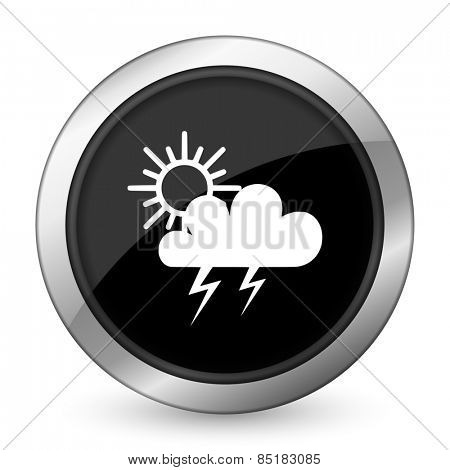 storm black icon waether forecast sign