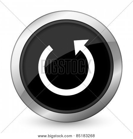 rotate black icon reload sign