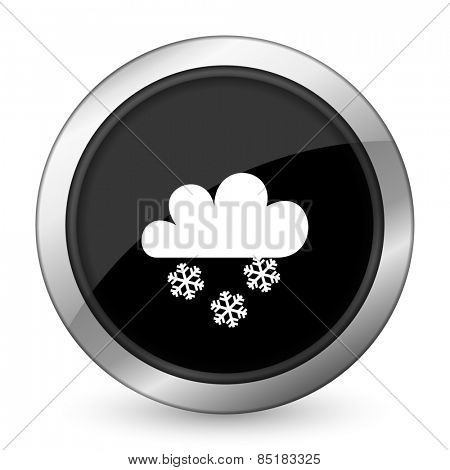 snowing black icon waether forecast sign