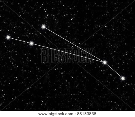 constellation Aries against the starry sky