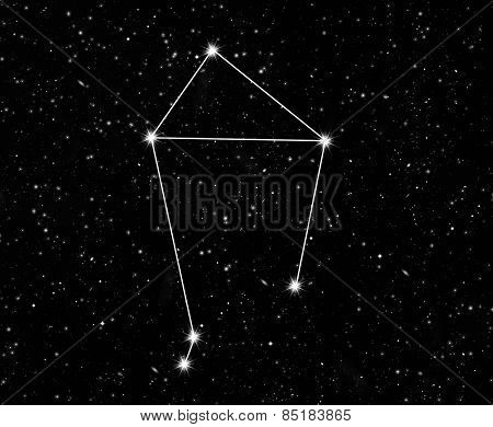 constellation scales against the starry sky